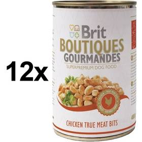 Brit Boutiques Gourmandes Chicken True Meat Bits 12 x 400g