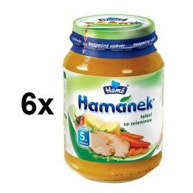 Hamánek telecí se zeleninou 6x190g