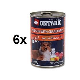 Ontario Adult zvěřina, brusinky a světlicový olej 6 x 400g
