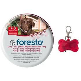 Bayer Foresto 70 cm pro psy + svítící přívěšek Svítící přívěšek Bayer Foresto kost - červený (zdarma) + Doprava zdarma