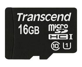 Paměťová karta Transcend MicroSDHC Premium 16GB UHS-I U1 (45MB/s) (TS16GUSDCU1)