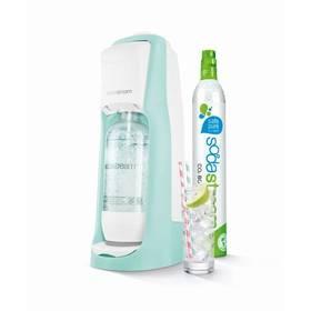 SodaStream Pastels JET PASTEL GREEN zelený + Láhev dětská SodaStream Příšerky + sirup v hodnotě 399 Kč