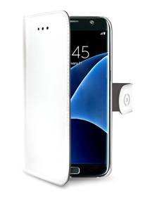 Puzdro na mobil flipové Celly Wally pro Samsung Galaxy S7 Edge (WALLY591WH) biele
