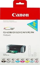 Inkoustová náplň Canon CLI-42 Multi Pack - originální (6384B010) černá/šedá/červená/modrá/žlutá