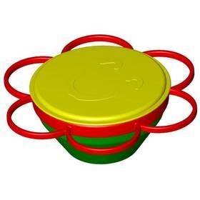 Detská miska Ontop kouzelná nepřevrhnutelná červená/žltá/zelená