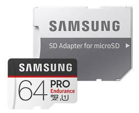 Samsung Micro SDXC PRO endurance 64GB UHS-I U1 (100R/30W) + adapter (MB-MJ64GA/EU)