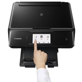 Canon PIXMA TS8050 (1369C006AA) černá Software F-Secure SAFE 6 měsíců pro 3 zařízení (zdarma)+ Fotopapír Canon PP-201 - 13x13cm - 275g / m2 - 20 listů - lesklý v hodnotě 169 Kč + Doprava zdarma