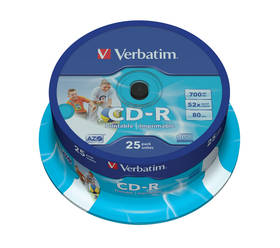 Verbatim CD-R 700MB/80min, 52x, printable, 25cake (43439)