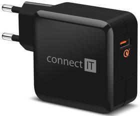 Connect IT InCarz, 1x USB (3A), s funkcí rychlonabíjení QC 3.0 (CWC-2010-BK) černá
