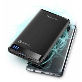 CellularLine Freepower Manta Pro 8000mAh, QC 3.0, USB-C (FREEPMANTA8QCCK) čierna