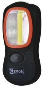 EMOS LED 3W COB LED + 3x LED,  3x AAA (1440283100) černá