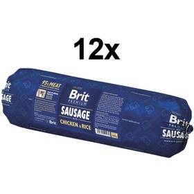 Konzerva Brit Sausage with Chicken & Rice 12 x 800g