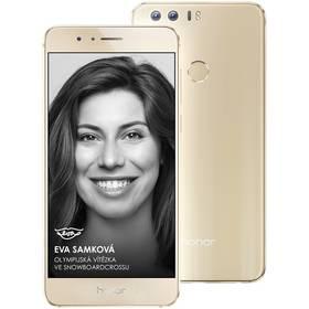 Honor 8 Dual SIM Premium 64 GB zlatý SIM s kreditem T-Mobile 200Kč Twist Online Internet (zdarma)Software F-Secure SAFE 6 měsíců pro 3 zařízení (zdarma) + Doprava zdarma