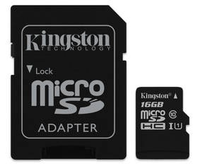Kingston MicroSDHC 16GB UHS-I U1 (45R/10W) + adapter (SDC10G2/16GB)