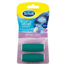 Scholl Velvet Smooth jemně drsná s mořskými minerály 2ks + Doprava zdarma