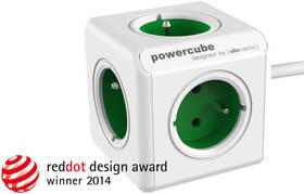 Powercube Extended, 5x zásuvka, 1,5m zelená