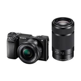 Sony Alpha A6000 + 16-50mm + 55-210mm černý + Doprava zdarma
