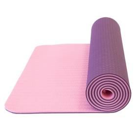 Yate Yoga Mat, dvouvrstvá, materiál TPE + taška ružová/fialová