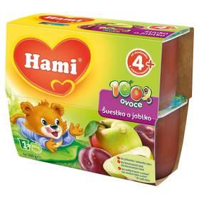 Hami 100% ovoce švestka a jablko (4x100g)