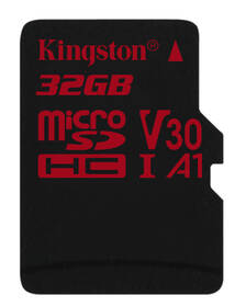 Paměťová karta Kingston Canvas React microSDHC 32GB UHS-I U3 (100R/70W) (SDCR/32GBSP)