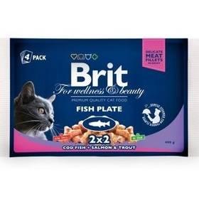 Brit Cat Fish Plate 400 g (4x 100 g)