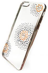 Kryt na mobil Beeyo Flower Dots pro Apple iPhone 6/6s (BEAAPIP6TPUFLSI) strieborný