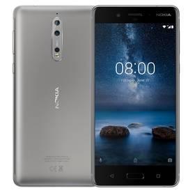 Nokia 8 Dual SIM (11NB1S01A06) stříbrný + Doprava zdarma