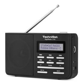 Radiopřijímač s DAB Technisat DAB210 černý/stříbrný