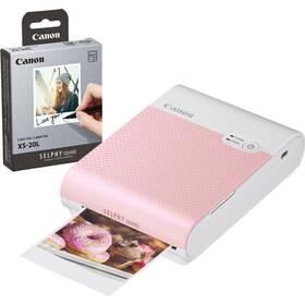 Canon Selphy Square QX10 + papíry 20 ks růžová