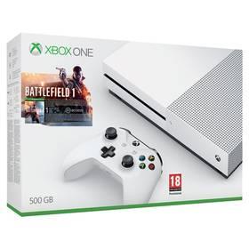 Microsoft Xbox One S 500 GB + Battlefield 1 (ZQ9-00038) bílá