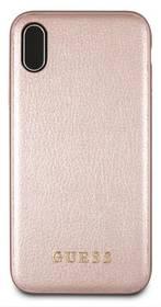Guess Leather Hard Case Iridescent pro Apple iPhone Xs Max (GUHCI65IGLRG) růžový