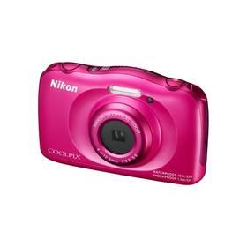Nikon Coolpix S33 + dětský batoh ZDARMA růžový