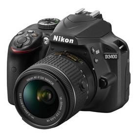 Nikon D3400 + AF-P 18-55 VR + 4x čištění čipu zdarma (VBA490K001) černý + Doprava zdarma