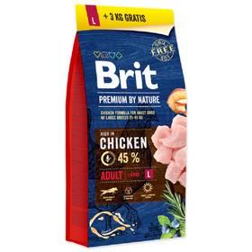 Brit Premium Dog by Nature Adult L 15 + 3 kg
