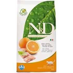 N&D Grain Free CAT Adult Fish & Orange 10 kg + Doprava zdarma