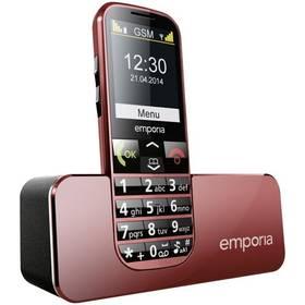 emporia ECO (TELEMECORE) červený SIM s kreditem T-mobile Twist V síti 200 Kč kredit (zdarma)