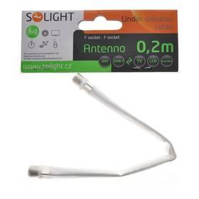 Kabel Solight Podokenní, F konektor bílá barva