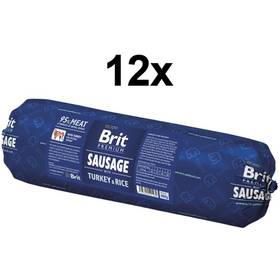 Konzerva Brit Sausage with Turkey & Rice 12 x 800g