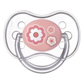 Cumlík Canpol babies NEWBORN BABY silikonové třešinka 6-18m ružové