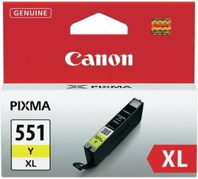 Inkoustová náplň Canon CLI-551XL Y, 685 stran - originální (6446B001) žlutá
