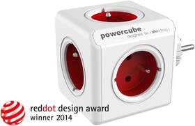 Powercube Original, 5x zásuvka bílá/červená