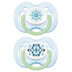 Philips AVENT SENSITIVE FANTAZIE 0-6m. bez BPA, 2ks, potisk modré/zelené