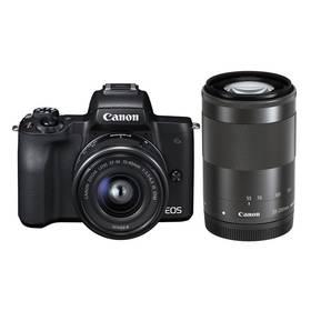 Canon EOS M50 + EF-M15-45 + EF-M55-200 (2680C022) černý + Doprava zdarma