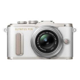 Olympus PEN E-PL8 + 14-42 Pancake Zoom stříbrný/bílý + Doprava zdarma