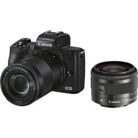 Canon EOS M50 Mark II + EF-M 15-45 + EF-M 55-200 (4728C015) čierny