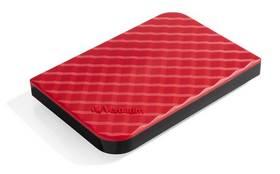 """Verbatim Store 'n' Go GEN2 1TB (53203) červený + Pouzdro na HDD Verbatim Store 'n' Go 2,5"""" - černé v hodnotě 199 Kč + Doprava zdarma"""