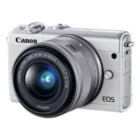Canon EOS M100 + EF-M 15-45mm IS STM (2210C093) bílý + Doprava zdarma