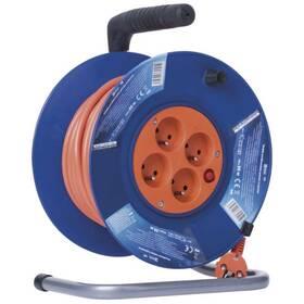 Kabel prodlužovací na bubne EMOS 4x zásuvka, 25m (1908042501) oranžový