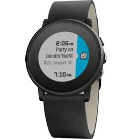 Pebble Time Round Smartwatch, 20mm pásek (60100049) černé + Doprava zdarma