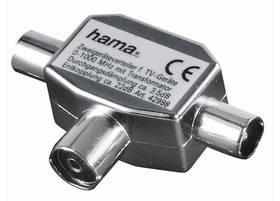 Hama pro TV, 1x koaxiální zásuvka - 2x koaxiální vidlice (122469)
